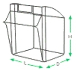 Exdron - Cell multi-cell 5 / cabin all, transparent