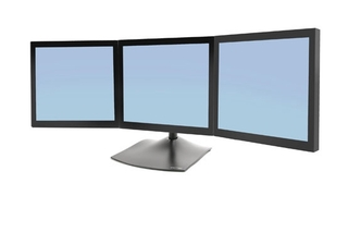 Ergotron - DS100 Triple-Monitor Desk Stand