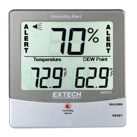 Extech - Extech Thermometer Humidity Alert w Dew Point