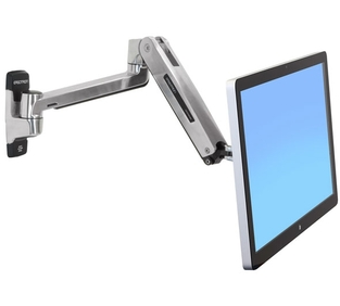 Ergotron - LX HD Sit-Stand Wall Mount LCD Arm