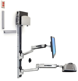 Ergotron - LX Sit-Stand Wall Mount System
