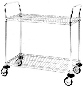 Metro - Metro 2 wire shelves cart 45X61cm