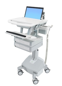 Ergotron - StyleView Laptop Cart, LiFe Powe, 2 Drs US