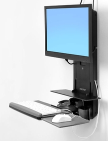 Ergotron - StyleView Sit-Stand Verti Lift, PatientRo (black