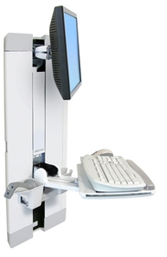 Ergotron - StyleView Vertical Lift, Patient Room (white)