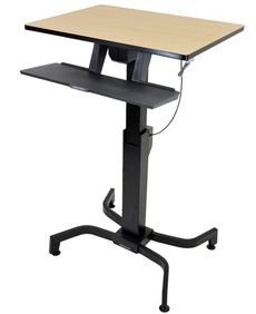 Ergotron - WorkFit-PD, Sit-Stand Desk (birch)