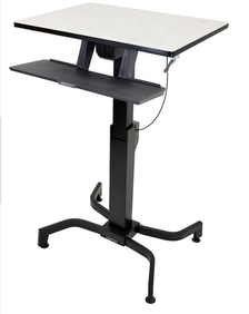 Ergotron - WorkFit-PD, Sit-Stand Desk (light grey)